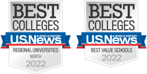 2022 us news and world report best value schools and best regional universities north badges